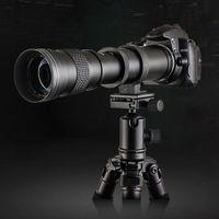 420-800mm f/8.3-16 Zoomobjektiv, Super Tele Zoom Objektiv Teleobjektiv für Canon EOS 80D 77D 70D 60D 60D 50D 40D 30D 20D 7D 6D 5D 5DS 5DSR