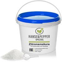 5kg Zitronensäure reine Lebensmittelqualität C6H8O7 E330 Ökonomisch 5kg Eimer - Life Serie