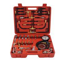 CCLIFE Benzindruckprüfer Kompression Kraftstoff Benzindruckmesser Benzindrucktester Einspritzanlage Werkzeug 0-10Bar