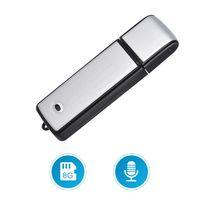 tragbar Digital Diktiergerät USB 8GB Aufnahmegerät Voice Recorder【Silber und Schwarz】