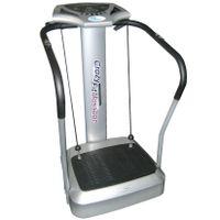 Crazy Fit Vibrations-Heimtrainer 500W Ganzkörper Vibrationstrainer Vibrationsplatte für Zuhause mit extra-großer Trainingsfläche, LED Display, Pulsmesser, inkl. Fitness-Bänder - Fitnessgerät, Fitnessstation, ergonomisches Design, Vibrations-Massage