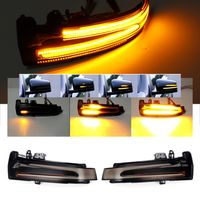 1 Paar schwarze dynamische LED-Seitenspiegel Blinker Blinker für Mercedes W204 Mercedes A B C E S CLS CLA GLA GLK Klasse