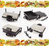 Ertex-Shov Elektrogrill Multigrill Kontaktgrill Grill Toaster LAHMACUN + Kasserolle Teflon MODELL 2018 (SILBER)
