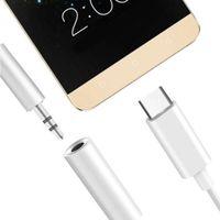 USB 3.1 Typ C Stecker auf 3,5 mm AUX Buchse Kopfhörer Audio Adapter Kabel Weiß Farbe Weiß