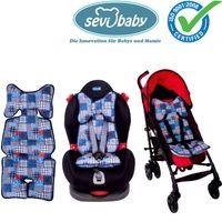 Sevibaby PATCHWORK Einlage Sitzunterlage fü Babyschale Kinderwagen Autositz 8376-31