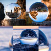 Glaskugel Fotografie Kugel mit Ständer in KRISTALL KLAR 130 mm Kristallkugel