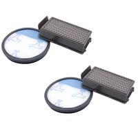 vhbw 2x Filter Set für Rowenta RO3718EA, RO3724EA, RO3731EA RO3753EA RO3786EA RO3798EA Staubsauger, HEPA Abluftfilter Vormotorfilter, Ersetzt ZR005901