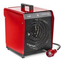 TROTEC TDS 50 E Elektroheizgebläse  (max. 9 kW)  Temperaturregelung mit zwei Heizstufen, Kondensfreie Wärme – kein Sauerstoffverbrauch – deshalb optimal zur Innenraumbeheizung geeignet