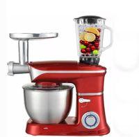 Küchenmaschine Rührmaschine Knetmaschine Teigkneter 3in1 6,5 L 2000 W max. Rot