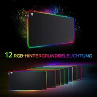 RGB Mauspad, Gaming Mauspad, XXL, 12 Beleuchtungs Modi, 800x400x4 mm