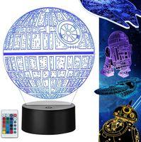 Star Wars Farbwechsel USB Energiesparendes LED-Nachtlicht [Energieklasse A]