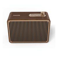 Philips TAVS500/00 - 10 W - Kabellos - A2DP,AVRCP,HFP - 10 m - Tragbarer Mono-Lautsprecher - Gold -  Philips
