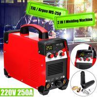 220V 7700W 2 in 1 WIG ARC Elektroschweißmaschine 20-250A MMA IGBT Stick Wechselrichter