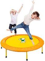 LBLA Kindertrampolin, 38 Zoll Mini Trampolin für Kinder, faltbares Kindertrampolin, Indoor Outdoor (Gelb)