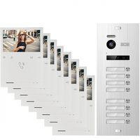 Video Türsprechanlage BALTER EVO QUICK für 8 Familienhaus mit 8x 4,3 Zoll Monitor 2-Draht BUS Türstation mit 150° Weitwinkel-Kamera