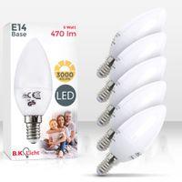 LED Lampe Energiesparlampe E14 LED Birne 5 Watt 470 Lumen Leuchtmittel Glühbirne warmweiß Kerzenform 5er SET B.K.Licht
