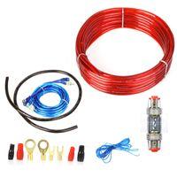 1500W Car Audio Verkabelung Verstaerker Subwoofer Installation Kit 8GA Stromkabel 60 Ampere Sicherungshalter