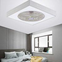 Deckenventilator mit Beleuchtung Fan Deckenleuchte LED Licht Dimmbar Fernbedienung D40W 220V Weiß