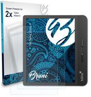 Bruni Basics-Clear 2x Schutzfolie kompatibel mit Tolino Vision 5 Folie