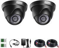 ZOSI 2X Full HD 1080P Außen Dome Video Überwachungskamera Set mit Kabel und Netzteil für 2MP TVI DVR System