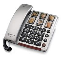 amplicomms BigTel 40 Plus Analoges Telefon Schwarz, Grau