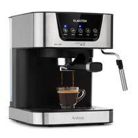 Klarstein Arabica Espressomaschine,1050 Watt,15 Bar,1,5 Liter Wassertank,Touch-Bedienfeld,LED Digital-Display,abwaschbares Tropfgitter,bewegliche Aufschäumdüse,abnehmbarer Wassertank,Tassenwärmer,Edelstahl
