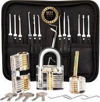 28x Lock Picking Tools Lockpick Set mit 3 Transparenten Training Schlösser