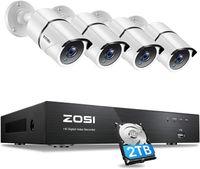 ZOSI 4CH 4K Ultra HD DVR Videoüberwachung System mit 2TB Festplatte und 4X 8MP Outdoor Überwachungskamera Set