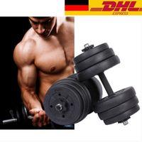 20 KG Hantelset mit Gewichten, Hantelscheiben und Verbindungsstücke Heimfitness-Training leicht zu tragen und zu lagern
