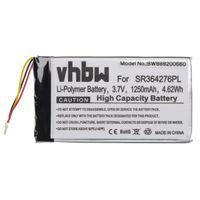vhbw Akku kompatibel mit Becker Active.5 LMU, BE B10, BE B20, BE B60, Professional.5 LMU, Ready.5 LMU GPS Navigation Navi (1250mAh, 3.7V, Li-Polymer)