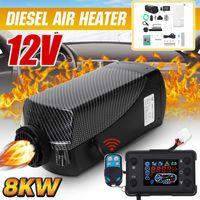 HCalory 12V 5KW-8KW Diesel Standheizung Luftheizung Air Diesel für Wohnmobil Auto KFZ LKW PKW Schwarz LCD (DE Lager)