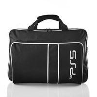 Tasche für PS5 Konsole, Tragetasche für Playstation 5 Gaming Konsolen Disc/Digital Edition und Controller, Transporttasche kompatibel mit PS5 Controller/Spielkarten/HDMI und Zubehör