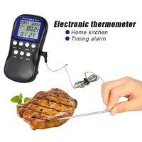 Digitale Küchen Thermometer für Lebensmittel Edelstahlfühler für Kerntemperatur
