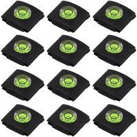 Set von 12 heißen Schuh-Abdeckungen, Kamera-Taschenlampe Hotshoe-Abdeckung von Bubble Wasserwaage für Canon Nikon Panasonic Fujifilm Olympus Sigma PENTAX DSLR SLR