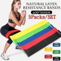 5 Stk Widerstandsbänder Sport Fitnessbänder Resistance Naturlatex Yoga Gummiband