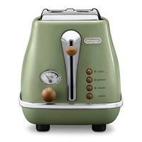 DeLonghi CTOV2103.GR Icona Vintage 2-Scheiben Toaster GrÃ1/4n