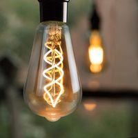 3x Edison Glühbirne E27 LED, 4W Vintage Glühlampe GBLY Dekorative Antike Lampen, ST64 Warmweiß 2200K Filament Bulb Ideal für Nostalgie und Retro Beleuchtung im Haus Café Bar Restaurant, nicht dimmbar [Energieklasse A++]