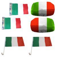 """Fan-Paket Auto """"Italien"""" Italy Italia EM WM Länder Fußball Flaggen Außenspiegel Sticker"""