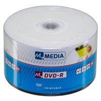 1x50 MyMedia DVD-R 4,7GB 16x Speed Printable Wrap
