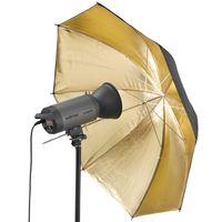 Walimex Reflexschirm schwarz/gold 2-lagig, 109cm