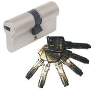 ABUS EC550 Doppelzylinder Länge (a/b) 35/55mm (c=90mm) mit 6 Schlüssel, SKG** Bohrschutz
