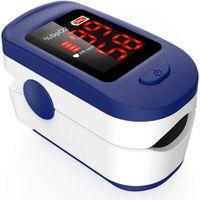 Edle Finger Sättigung Meter mit Sauerstoffsättigung & Herzfrequenz-Monitor OLED-Display Fingerpulsoximeter Herzfrequenz