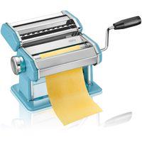 Gefu 89504 Pasta Perfetta Azurblau, Nudelmaschine inkl. Aufsatz für Lasagne, Tagliolini, Tagliatelle & Tischklemme