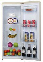 Amica VKSR 354 150 B, Vollraum-Kühlschrank im Retro Design, 144 cm Höhe, coffee cream,