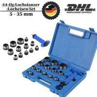 14tlg Loch Stanzen Henkellocheisen Locheisen Lochstanzer 5-35mm Stanzeisen
