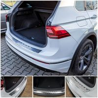 Edelstahl Ladekantenschutz für VW Tiguan 2 und Allspace   2016-