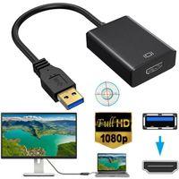 20cm USB 3.0 zu HD 1080P HDMI Video Kable Adapter Konverter HDMI-Kabel Medienkonverter für PC Desktop Laptop HDTV LCD TV