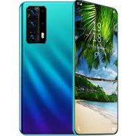 Smartphone, 6,8-Zoll-HD-Großbildschirm, 2G RAM + 32G Dual-SIM-Karte Mobiltelefon - hellblau, Geschenk
