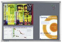 Legamaster PROFESSIONAL Pinboard, 120 x 180 cm, graue Textilbespannung