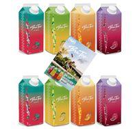 Capital BraTee 8er Tasting Set Eistee je 750ml + Autogrammkarte BRATEE Ice tea 2x Wassermelone 2x Zitrone 2x Pfirsich 2x Granatapfel - mit Capi-Qualitäts-Siegel